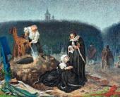 Alexander BEIDEMAN. (Beidemann). At the Cemetery. Early 1860s