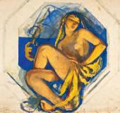 Zinaida SEREBRYAKOVA. Odalisque (India). c.1915