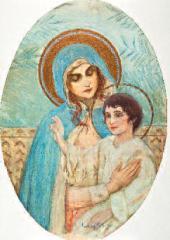 Mikhail NESTEROV. Virgin with Child. 1900