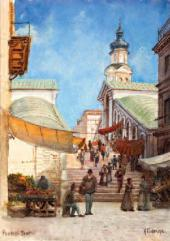 Karl GEFTLER. Venice. Rialto Bridge. 1890s