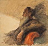 Leonid PASTERNAK. Portrait of Leo Tolstoy. 1901