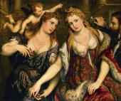 PARIS BORDONE (1500-1571). VENUS, FLORA, MARS AND CUPID. 1553-1555