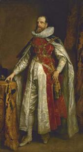 ANTHONY VAN DYCK (1599-1641). PORTRAIT OF HENRY DANVERS, EARL OF DANBY IN GARTER