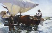 JOAQUIN SOROLLA. THE RETURN FROM FISHING. C. 1894