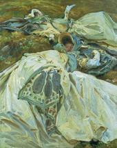 JOHN SINGER SARGENT. TWO GIRLS IN WHITE DRESSES. C. 1909-1911