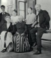 Boris, Rosalia Isidorovna, Lydia, Josephine and Leonid Osipovich Pasternak