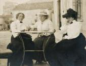 CLARIBEL CONE, GERTRUDE STEIN, AND ETTA CONE SITTING AT A TABLE IN SETTIGNANO, I