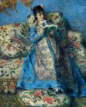 Pierre-Auguste RENOIR. Portrait of Madame Monet (Madame Claude Monet Reading)