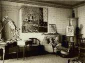 HENRI MATISSE IN HIS APARTMENT AT THE PLACE CHARLES-FELIX IN NICE, 1934