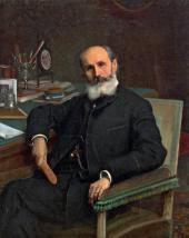 Ivan KRAMSKOI. Portrait of Pavel Kovalevsky. 1886