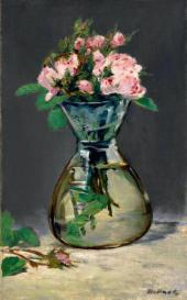 Edouard MANET. Moss Roses in a Vase. 1882