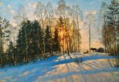 Konstantin YUON. Winter Sun. Ligachevo. 1916