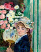Pierre-Auguste RENOIR. Girl with a Fan. c. 1879