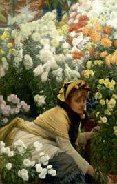 James TISSOT. Chrysanthemums. c. 1874-1876