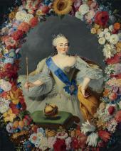 GEORG CASPAR PRENNER. PORTRAIT OF EMPRESS ELIZABETH (ELIZAVETA PETROVNA). 1754