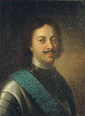 UNKNOWN ARTIST. PORTRAIT OF PETER I. First half of the 18th century.
