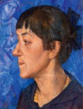 Kuzma PETROV-VODKIN. Portrait of the Artist's Wife. 1921