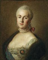 PIETRO ROTARI. PORTRAIT OF GRAND DUCHESS YEKATERINA (CATHERINE) ALEXEEVNA. 1761