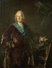 LOUIS TOCQUE. PORTRAIT OF COUNT ALEXEI PETROVICH BESTUZHEV-RUMIN. 1757