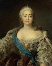 LOUIS TOCQUE. PORTRAIT OF EMPRESS ELIZABETH (ELIZAVETA PETROVNA)