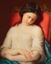 The Sleeping Girl. 1840s