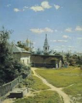 VASILY POLENOV. A MOSCOW COURTYARD. 1877 First version.