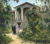 VASILY POLENOV. GRANDMOTHER'S GARDEN. 1878