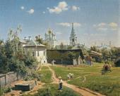 VASILY POLENOV. A MOSCOW COURTYARD. 1878