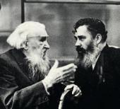Alexander Kibalnikov and Sergei Konenkov. 1960s