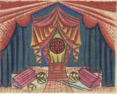 "SET DESIGN FOR THE PRODUCTION OF NIKOLAI SHKLYAR'S PLAY ""BUM AND YULA"". 1923"