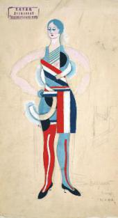 "COSTUME DESIGN FOR ""A WOMAN"" FOR A PRODUCTION OF IVAN KOCHERHA'S PLAY ""MARK IN H"