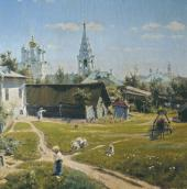 VASILY POLENOV. A MOSCOW COURTYARD. Details