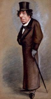 Carlo PELLEGRINI. Benjamin Disraeli, Earl of Beaconsfield Watercolour, published
