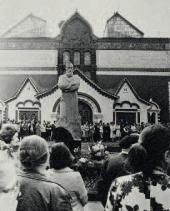 Unveiling of the Monument to Pavel Tretyakov in Moscow. 1980