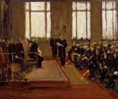 Sir John LAVERY. Opening of the Lord Duveen Annexe