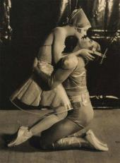 "ALICIA NIKITINA AS LA CHATTE (SHE-CAT), SERGE LIFAR AS YOUNG MAN ""LA CHATTE"" (SH"