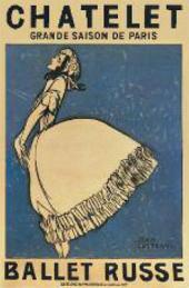 JEAN COCTEAU. PLAYBILL OF BALLETS RUSSES. 1911
