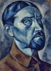 Nikolai CHERNYSHEV. Self-portrait. 1921