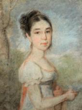 Alexei VENETSIANOV. Portrait of Yekaterina Balkashina (1802-?) nee Stromilova