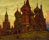 Andrei GORSKY. Moscow. Dawn. (St. Basil's Cathedral after restoration in 1938).