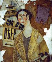 MIKHAIL LARIONOV. PORTRAIT OF NATALYA GONCHAROVA . 1915