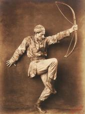"ADOLPH BOLM AS POLOVETS (POLOVETSIAN CHIEF). ""POLOVTSIAN DANCES"". 1909"