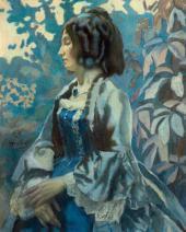Viktor BORISOV-MUSATOV, Lady in Blue. 1902