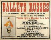 PLAYBILL OF BALLETS RUSSES WITH A LITHOGRAPH BY PABLO PICASSO. 1923