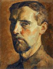 Nikolai CHERNYSHEV. Self-portrait. 1922