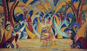 """MIKHAIL LARIONOV. FOREST SKETCH OF THE SET FOR ANATOLY LYADOV'S BALLET """"RUSSIAN"""