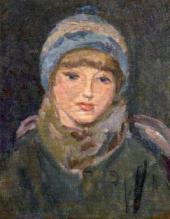 Nikolai CHERNYSHEV. Girl in a Blue Cap. 1928