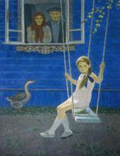 Yekaterina CHERNYSHEVA. Summer in the Countryside. (Nastenka has arrived). 1977