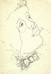 MIKHAIL LARIONOV. PORTRAIT OF SERGEI DIAGHILEV. 1920-s