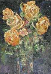 YELLOW ROSES. 1912